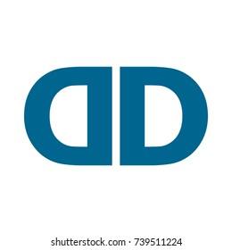 dd logo icon vector