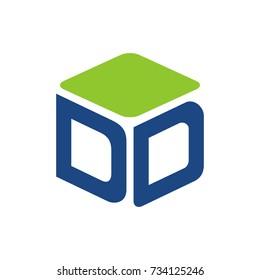 DD logo initial letter design template vector