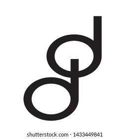 DD Logo Letter Vector Illustration