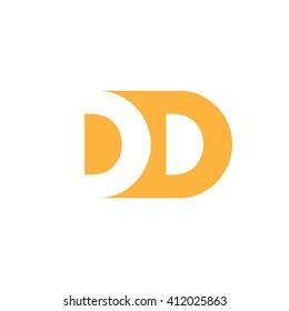 DD Logo. Vector Graphic Branding Letter Element. White Background