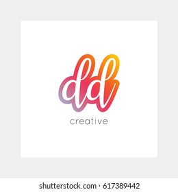 DD logo, vector. Useful as branding symbol, app icon, alphabet element, clip-art.