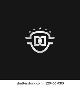 DD Shield logo vector for brand or identity