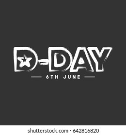 D-Day Logo Vector Template