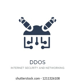 Ddos icon. Trendy flat vector Ddos icon on white background from Internet Security and Networking collection, vector illustration can be use for web and mobile, eps10