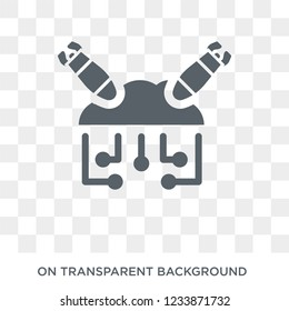Ddos icon. Trendy flat vector Ddos icon on transparent background from Internet Security and Networking collection.
