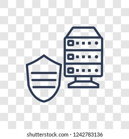 Ddos icon. Trendy linear Ddos logo concept on transparent background from Internet Security and Networking collection