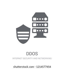 Ddos icon. Trendy Ddos logo concept on white background from Internet Security and Networking collection. Suitable for use on web apps, mobile apps and print media.