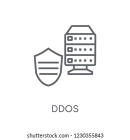 Ddos linear icon. Modern outline Ddos logo concept on white background from Internet Security and Networking collection. Suitable for use on web apps, mobile apps and print media.