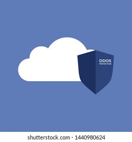 DDoS Protection icon/vector for cloud