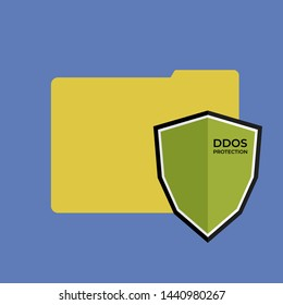 DDoS Protection icon/vector for files