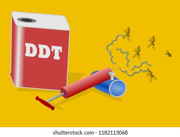 DDT and hand pump spray Get rid of insects,insecticides.