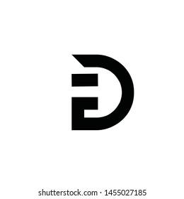 DE, D E, G, F, T initial letter logo design template vector