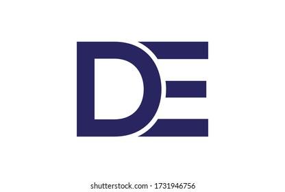 DE or ED Letter Initial Logo Design, Vector Template
