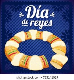 Día de Reyes (Three Kings Day in Spanish) Composition - Copy Space