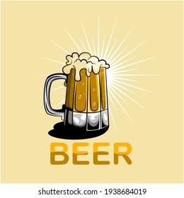 Ilustración de un vaso de cerveza