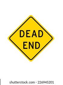 Dead End Sign - Vector