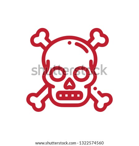 Dead icon flat illustration