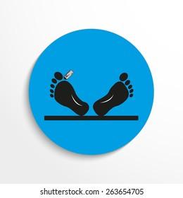 dead man flat icon illustration background