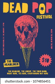 Dead Pop Festival Gig Poster Flyer Template