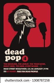 Dead Pop Gig Poster Flyer Template