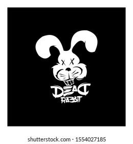 dead rabbit logo concept initials