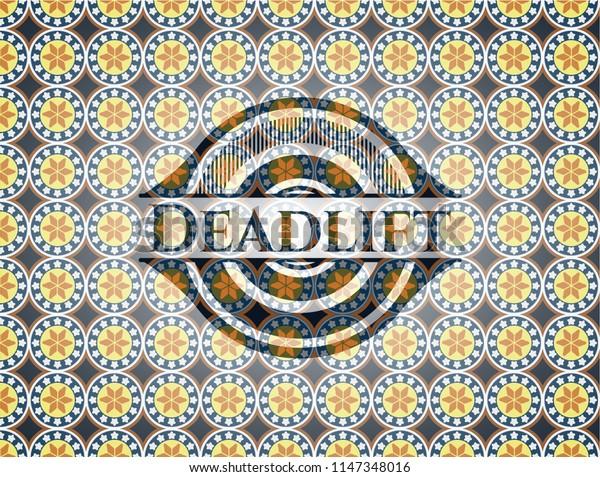 Deadlift arabesque emblem background. arabic decoration.