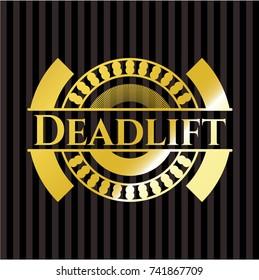 Deadlift gold shiny badge