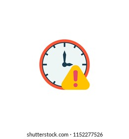 Deadline icon flat element. Vector illustration of deadline icon flat isolated on clean background for your web mobile app logo design.