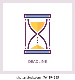 Deadline icon. Time management business concept. Vector linear pictogram.