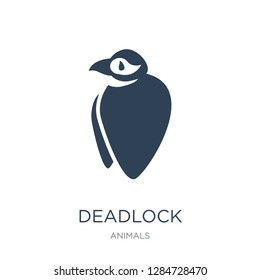 deadlock icon vector on white background, deadlock trendy filled icons from Animals  collection, deadlock vector illustration