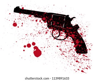a deadly weapon is a gun and blood spots