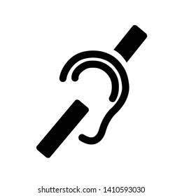 Deafness deaf hearing ear Accessibility