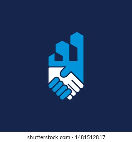 Deal and building logo, property, real estate logo design can be used as symbols, brand identity, company logo, icons, or others. Color and text can be changed according to your need.