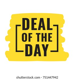 Deal of the day. Flat vector illustration. Business concept.