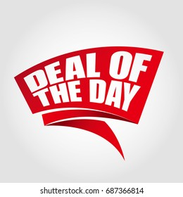 Deal of the day labels banners
