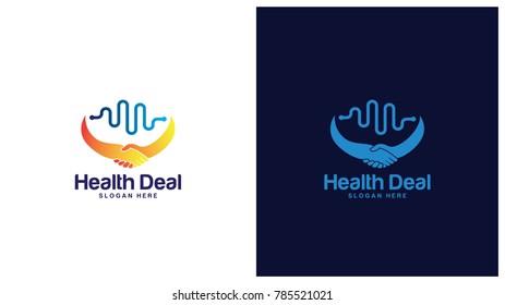 Deal logo designs, Deal Health logo concept vector
