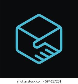 Deal logo vector