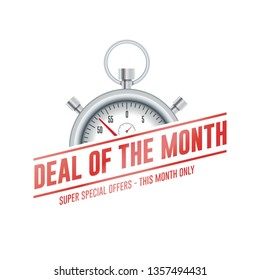 Deal Of The Month Chrono Time Label