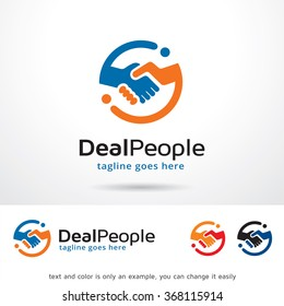 Deal People Logo Template Design Vector