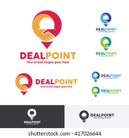 Deal Point Logo with Hand Shake Sign