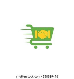 Deal Shopping Vector Logo Design Element