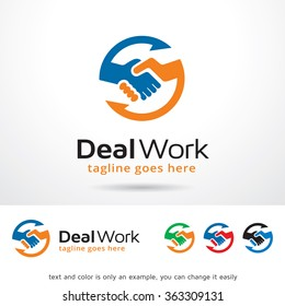 Deal Work Logo Template Design Vector