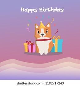 Dear Corgi wishes you a happy birthday ! Corgi prepared the greetings and gifts!