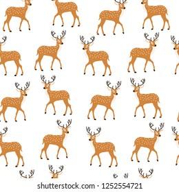 dear pattern cute seamless animal vector pattern