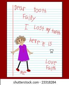 """""""Dear Tooth Fairy"""" letter"""