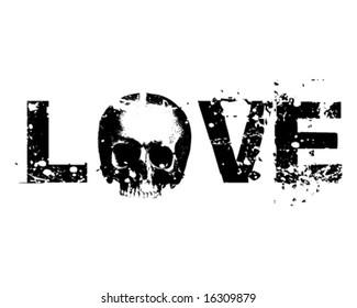 Death Love vector Illustration