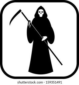 Death with scytheman vector icon