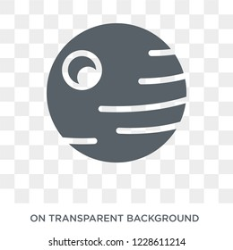 Death star icon. Death star design concept from Astronomy collection. Simple element vector illustration on transparent background.