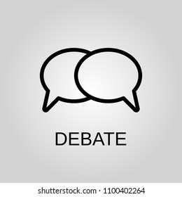 Debate icon. Debate symbol. Flat design. Stock - Vector illustration