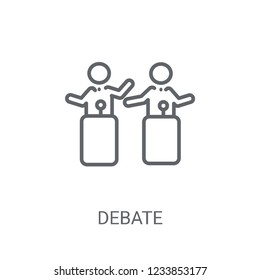 Debate icon. Trendy Debate logo concept on white background from Political collection. Suitable for use on web apps, mobile apps and print media.